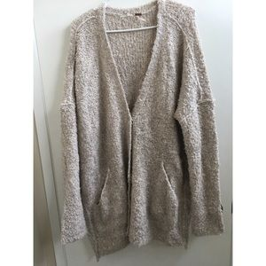 Free People cozy oversized cardi
